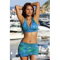 Palm Island Halter Skirted Swimsuit