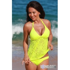 Lemon Festival Open Back Tankini