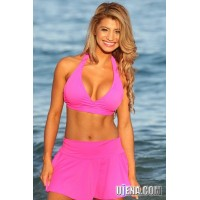 Flirty Skirted Halter Bikini