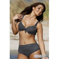 Polka Dot Underwire Plus Swimsuit