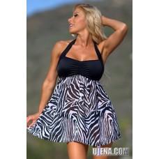 High Fashion Zebra Swim Dress