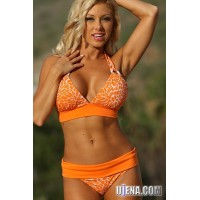 Orange Crush Ring Banded Bikini