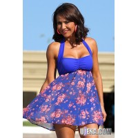 Floral and Royal Swim Dress